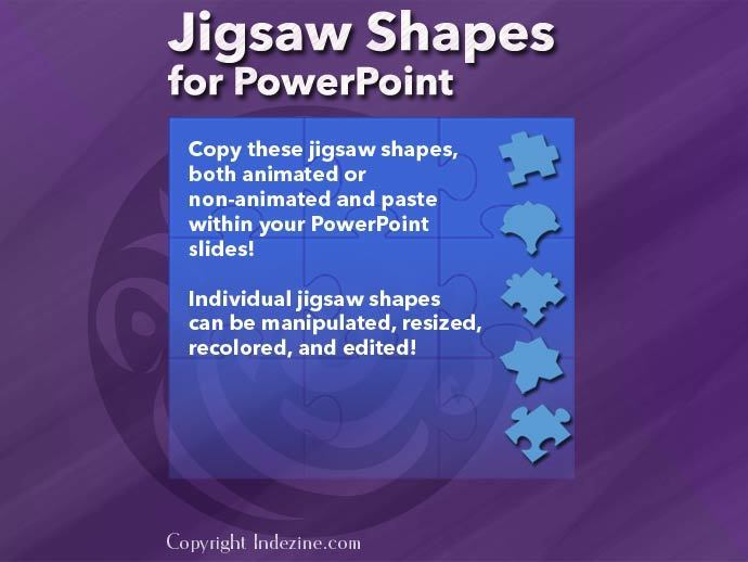 Jigsaw Shapes for PowerPoint (Full Slide Jigsaws)