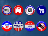 US Elections 2012 - PowerPoint Badges