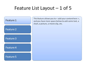 Feature List Layout
