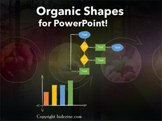 PowerPoint Concept Slides: Organic Shapes with Brush Edges