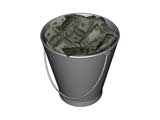 Bucket Diagrams with Money for PowerPoint