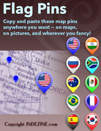 Map Pins for PowerPoint - Flag Pins