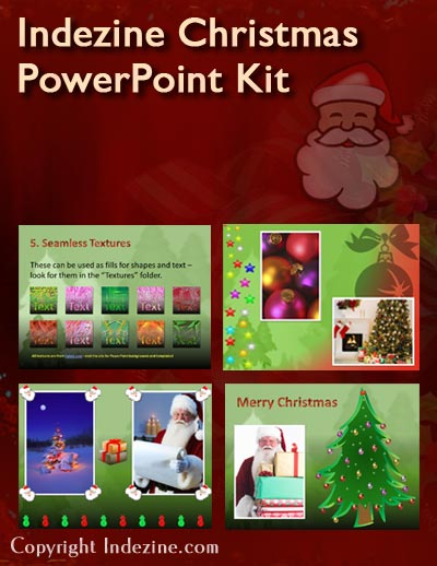 Indezine Christmas PowerPoint Kit