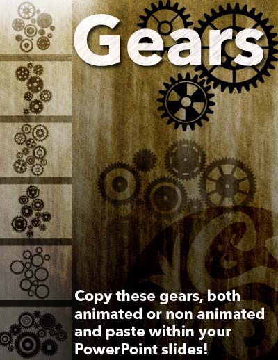 Gear Graphics for PowerPoint