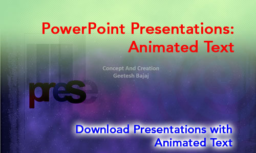 PowerPoint Animated Text