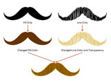Movember Moustache Graphics for PowerPoint