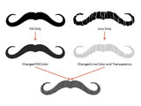 Movember Moustaches Clip Arts for PowerPoint