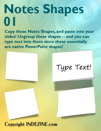 Notes Shapes for PowerPoint