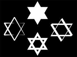 Star of David Clip Arts for PowerPoint