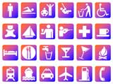Symbol Slides: Icons (PowerPoint Clip Art) - Blue and Orange