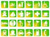 Symbol Slides: Icons (PowerPoint Clip Art) - Yellow and Green