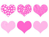 Valentine's Day Hearts - Pink