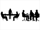 Business Meetings Silhouettes for PowerPoint