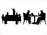 Business Meetings Silhouettes