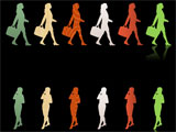 Businesswoman Silhouettes for PowerPoint - 01
