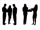 Businesspeople Silhouettes for PowerPoint