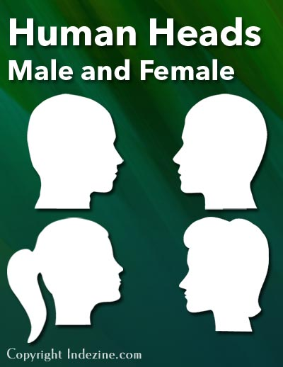 Human Heads PowerPoint Silhouettes