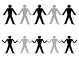People Chain Silhouettes for PowerPoint