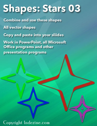 Star Shapes 03 for PowerPoint
