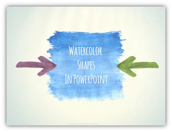 Watercolor Title Slide in PowerPoint