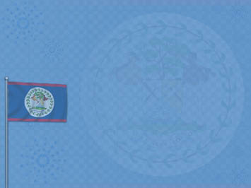 Belize Flag PowerPoint Template