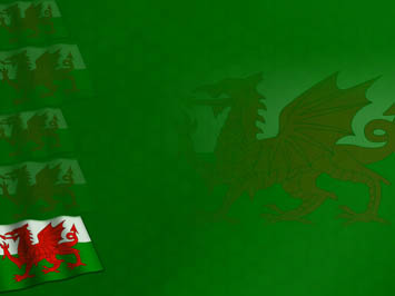 Wales Flag PowerPoint Templates