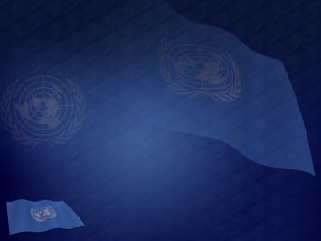 United Nations Flag PowerPoint Template
