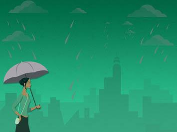 Monsoon Rains 08 Powerpoint Templates