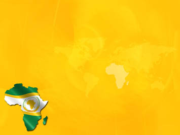 African Union Map PowerPoint Templates