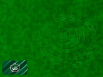 Arab League Flag PowerPoint Template