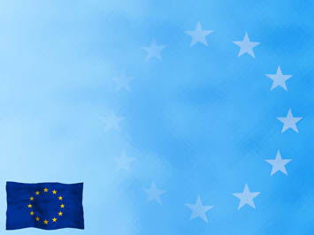european union flag 03 - powerpoint templates, Modern powerpoint