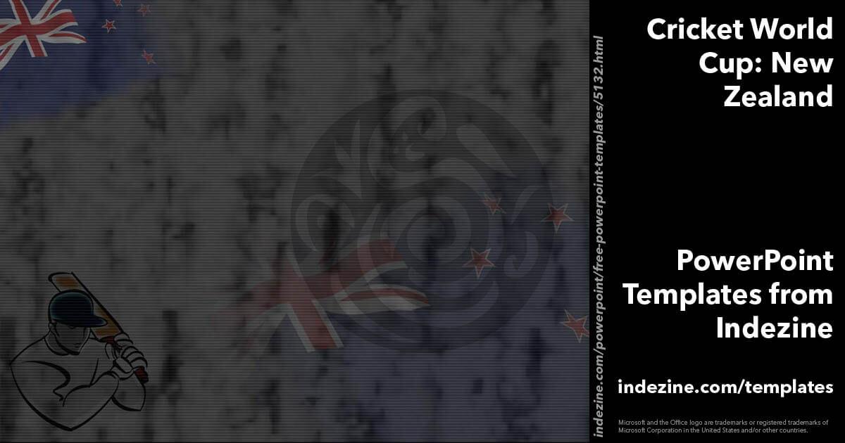 Cricket world cup new zealand powerpoint templates toneelgroepblik Choice Image