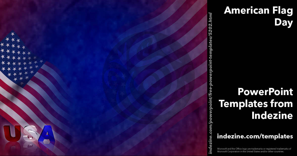 american flag day 01 powerpoint templates