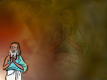 Hindu Priest PowerPoint Template