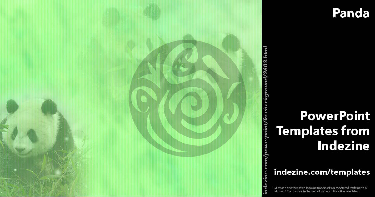 Panda 01 powerpoint templates toneelgroepblik Gallery