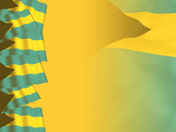 Bahamas Flag PowerPoint Templates