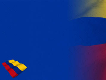 Colombia Flag 07 Powerpoint Template