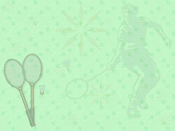 Badminton 08 Powerpoint Templates