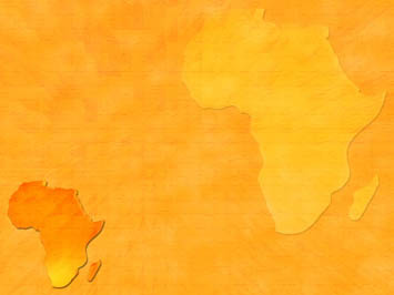 africa map 03 - powerpoint templates, Modern powerpoint