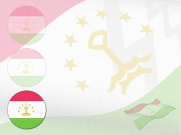 Tajikistan Flag PowerPoint Templates