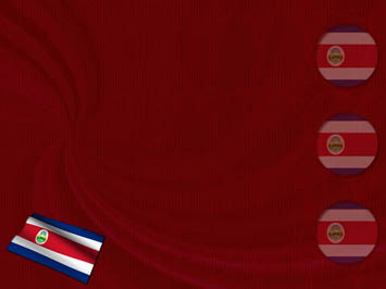 Costa Rica Flag PowerPoint Templates