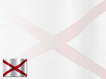 Alabama Flag PowerPoint Templates