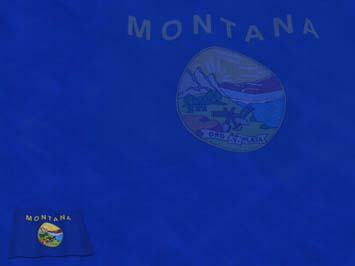 Montana Flag PowerPoint Template