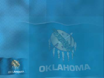 Oklahoma Flag PowerPoint Templates