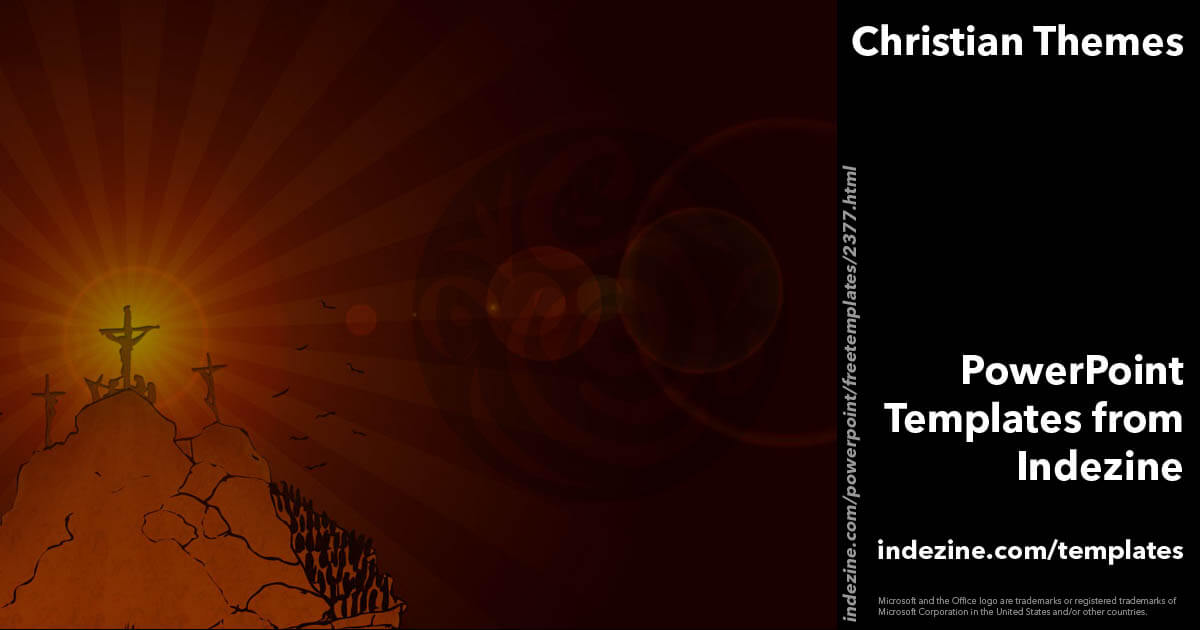 christian themes 01 powerpoint template