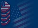 Americana Heart PowerPoint Templates