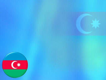 Azerbaijan Flag PowerPoint Template