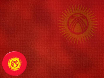 Kyrgyzstan Flag PowerPoint Templates