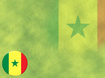 Senegal Flag PowerPoint Template