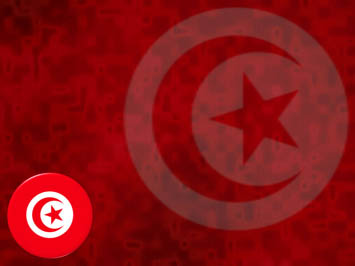 Tunisia Flag PowerPoint Templates